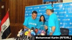 الساهر يتسلّم أوراق إعتماده سفيراً من رئيس بعثة اليونيسيف في العراق إسكندر خان