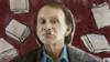 Michel Houellebecq with tobacco pictogram
