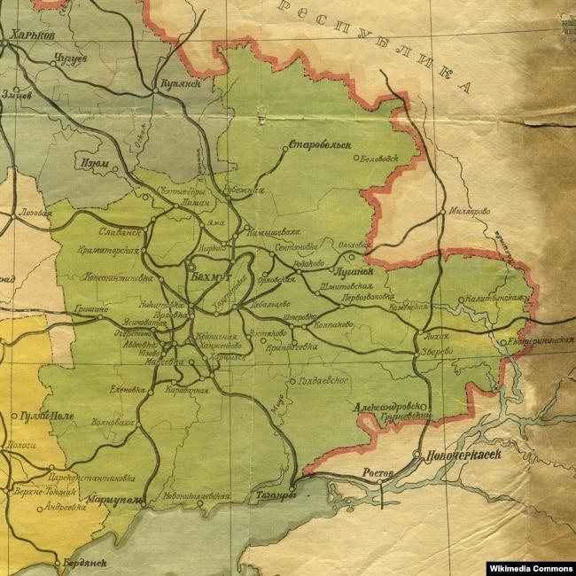 Карта Донецької губернії, листопад 1921 року