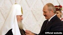 На сустрэчы АляксіяІІ іАляксандра Лукашэнкі 24кастрычніка 2008году