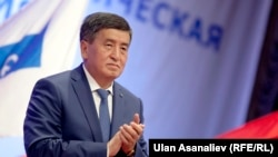 Kyrgyz Prime Minister Sooronbai Jeenbekov has been nominated as the Social Democratic Party's candidate for president. (file photo)