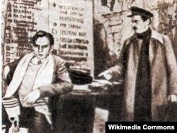 Сцэна са спэктакля «Мой сябра» Мікалая Пагодзіна, 1932 год
