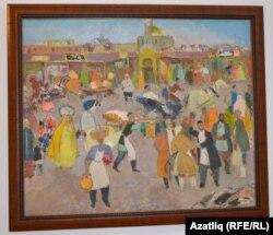 """Бакый Урманченың """"Печән базары"""" картинасы, 1975"""