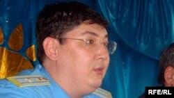 Almas Sherkeshbaev, the prosecutor-general for Atyrau's Zhylyoi district in Kazakhstan.