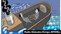کاریکاتوری از «پردراگ کوراکسیچ کوراکس» از صربستان.