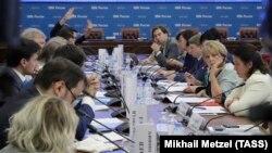 Встреча председателя ЦИК Эллы Памфиловой с незарегистрированными кандидатами в Мосгордуму, 23 июля 2019 г.