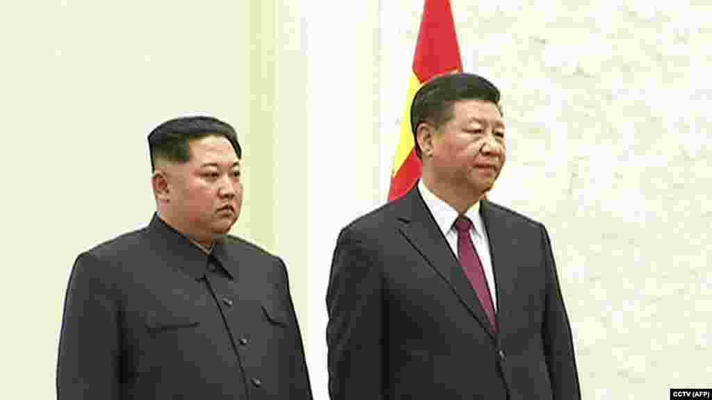 По сообщению Белого дома, Вашингтон был уведомлен Пекином о визите Ким Чен Ына в Китай.