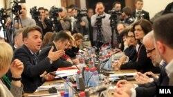 Седница на Анкетна комисија за скандалот со прислушкувањето.
