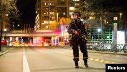 Норвежский полицейский в Осло. Иллюстративное фото.
