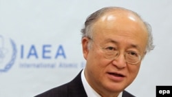 "International Atomic Energy Agency Director-General Yukiya Amano has the text but wants ""written notification"" that Tehran will follow through."