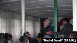 протест жителей Варзоба