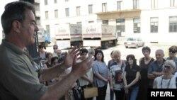Protest radnika Duvankomerca, Foto: Savo Prelević