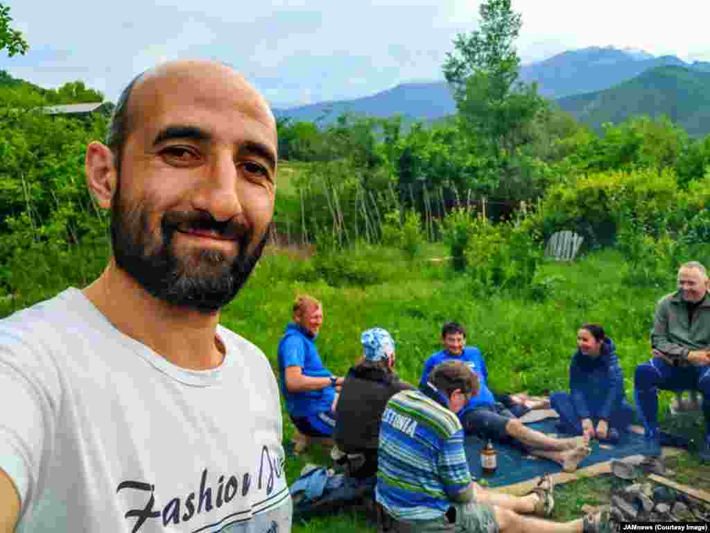 This is Gevorg Gasparian, an IT worker who also leads hiking tours around his hometown of Kapan in the south of Armenia.