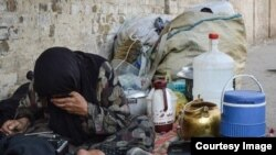 Poor slum dweller in Iran