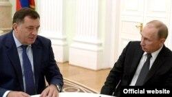 """""""Dodik od svih aktera najviše zavisan od Rusije"""": Milorad Dodik i Vladimir Putin"""