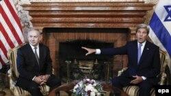 Од средбата на американскиот државен секретар Џон Кери со ирзарлескиот премиер Бенјамин Нетанјаху, Рим, јуни 2016.