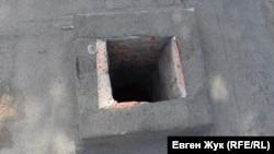 Вентиляционное отверстие отреставрировано современными материалами