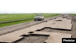Armenia -- A rural road under repair.