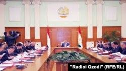 Ҷаласаи охирини ҳукумати Тоҷикистон дар соли 2012