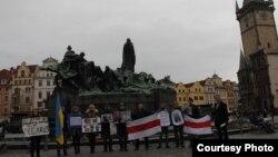 Акцыя салідарнасьці зь беларускімі палітвязьнямі, Прага, 8 сакавіка, 2012