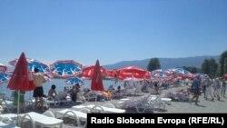 Плажа во Струга.