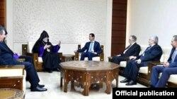 Արամ Առաջինի հանդիպումը Բաշար ալ-Ասադի հետ, 5-ը հունվարի, 2017թ.