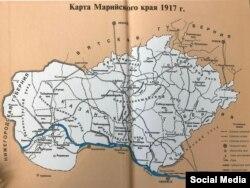 Карта Марийского края в 1917 году