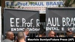 Школа в Сан-Паулу, где произошла стрельба, 13 марта 2019 года.