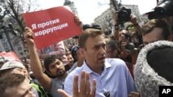 """Алексей Навальный на акции """"Он нам не царь"""" (архивное фото)"""