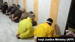 گروهی از افراد قبلی که در عراق به جرم «تروریسم» حکم اعدام دریافت کردند