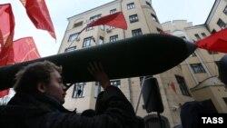 На антитурецкой демонстрации в Москве, 26 ноября 2015 года.
