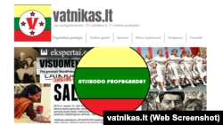 Скриншот сайта vatnikas.lt