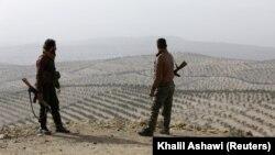 Luftëtarë sirianë që mbështeten nga Turqia. Afrin, 5 mars, 2018.