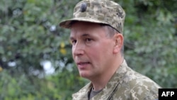 Украина қорғаныс министрі болған Валерий Гелетай. Краматорск, 18 шілде 2014 жыл.