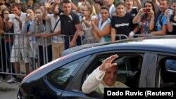 Рим папаси Франциск Сараевода, 2015 йилнинг 6 июни.