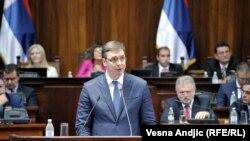 Aleksandar Vučić za govornicom Parlamenta 09.08.2016.