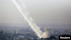 شلیک راکت از غزه به اسرائیل