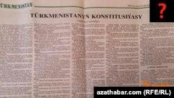Türkmenistanyň konstitusiýasynyň türkmen metbugatynda çap bolan täze taslamasy