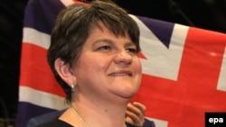 Arlene Foster, lidera Partidului Unionist Democratic, Belfast, Irlanda de Nord, 9 iunie, 2017