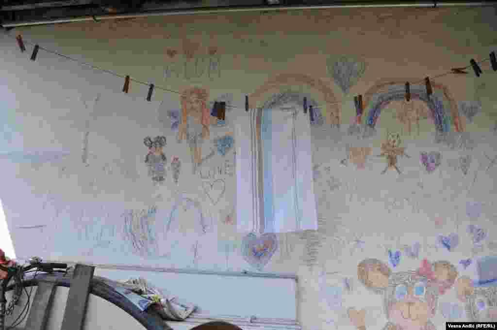 Crtež unuka Ivana Timotijevića na zidu kuće