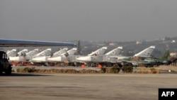 Սիրիա - Ռուսական մարտական օդանավերը Հմեյմիմ ռազմաբազայում, փետրվար, 2016թ․