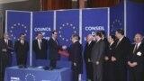 Франция. Министр иностранных дел РФ Евгений Примаков на церемонии вступления России в Совет Европы, Страсбург, 28.02.1996