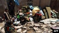 من آثار القصف في اليمن، 31 آذار 2015