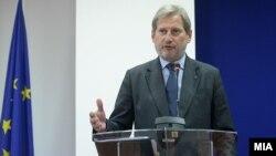 Еврокомесарот Јоханес Хан во посета на Македонија, 14.10.2016