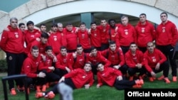 "Tajikistan,Dushanbe city, tajik FC ""Istiqlol"" in training camp in Turkey,4February2015"