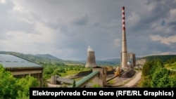 Pogled na termoelektranu Pljevlja