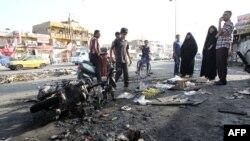Бағдад маңында болған терактілердің бірінен кейінгі көрініс. Ирак, шілде 2014 жыл. (Көрнекі сурет).