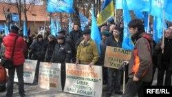 Мітинг прихильників Партії Регіонів у Львові