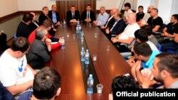 Встреча министра Михаила Гиоргадзе с представителями Национальной сборной Грузии по дзюдо, 7 мая 2018 г.