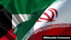 Знамињата на Кувајт и Иран.